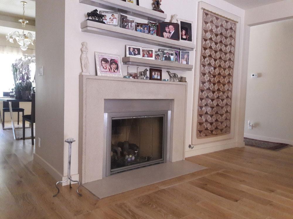 Allison-Mantel-with-Floating-Shelves-by-Your-Mantel-Company-Inc.  Comment décorer un manteau de cheminée (idées de décoration soignées)