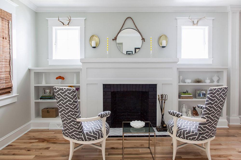 Craftsman-Great-Room-by-Rachel-Grace Comment décorer un manteau de cheminée (Idées de décoration soignées)