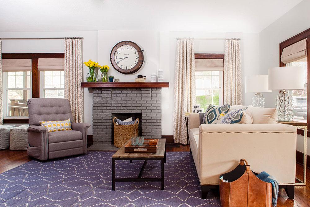 A-Surprise-Design-Makeover-for-a-Pittsburgh-Family-Home-by-Niche-Interiors Comment décorer un manteau de cheminée (Idées de décoration soignées)