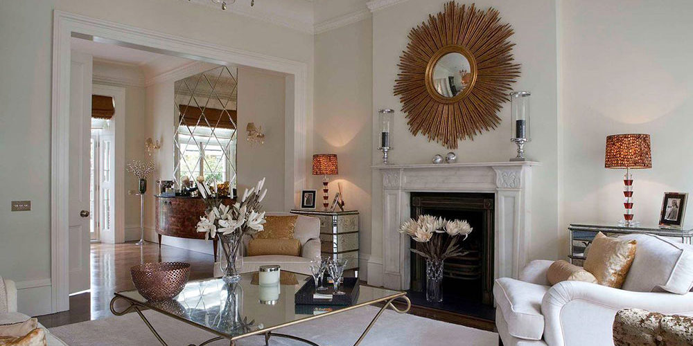 Living-Room-by-Jennifer-Grey-Interiors-Design-n-Color-Specialist How to decorate a fireplace mantel (Neat decorating ideas)