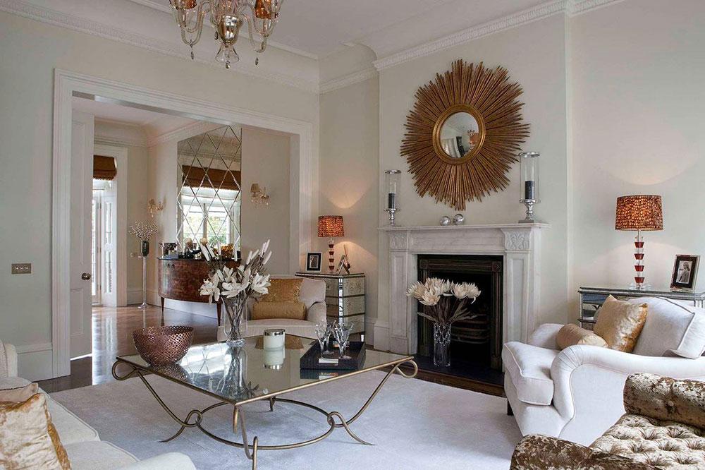 Salle-de-réception-par-Siobhan-Loates-Interiors Comment décorer un manteau de cheminée (Idées de décoration soignées)