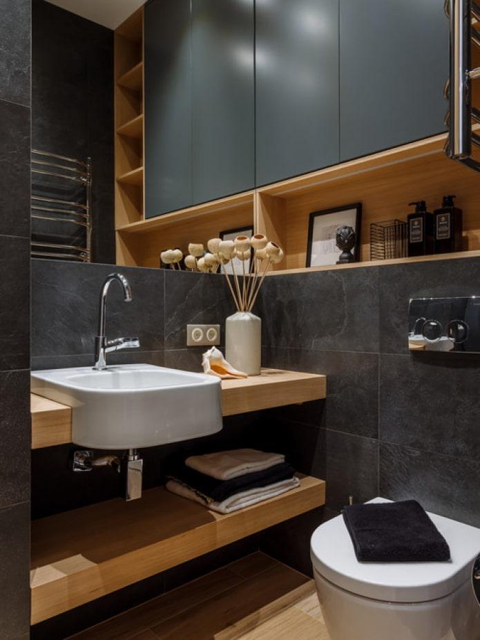 étagères de salle de bain
