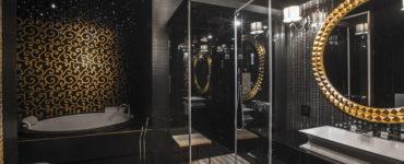 Черная ванная комната: фото и дизайн-секреты оформления