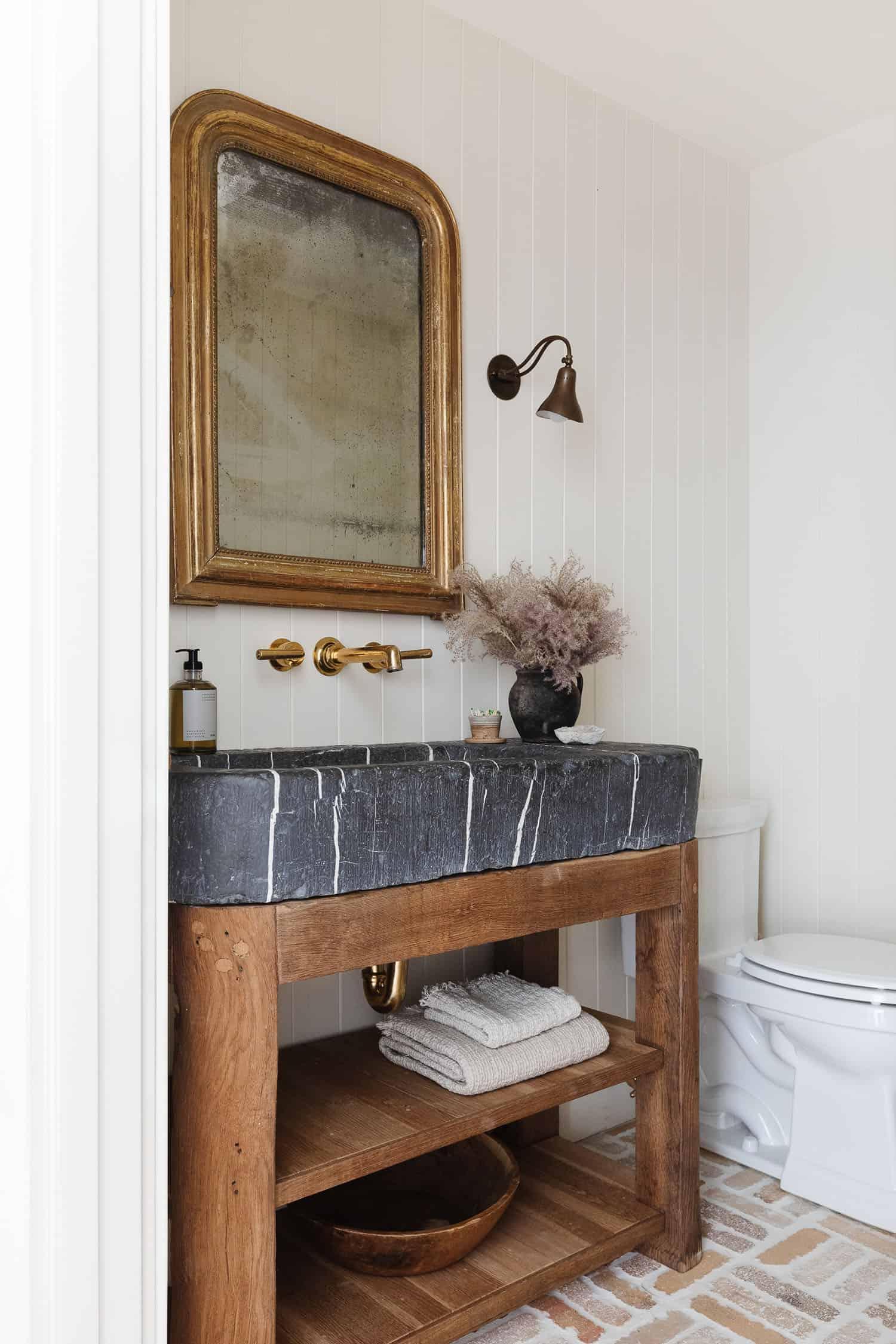 bain de poudre de style côte ouest