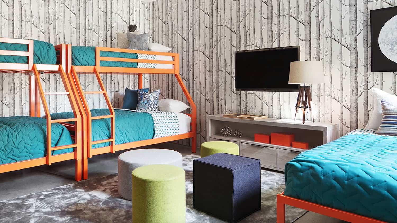 chambre-superposée-pour-enfants-style-plage-moderne