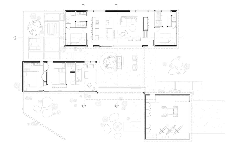 plan-d'étage-cabine-moderne-hors réseau