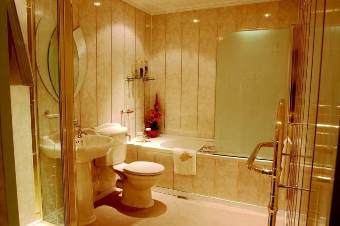 panneaux pvc dans la salle de bain