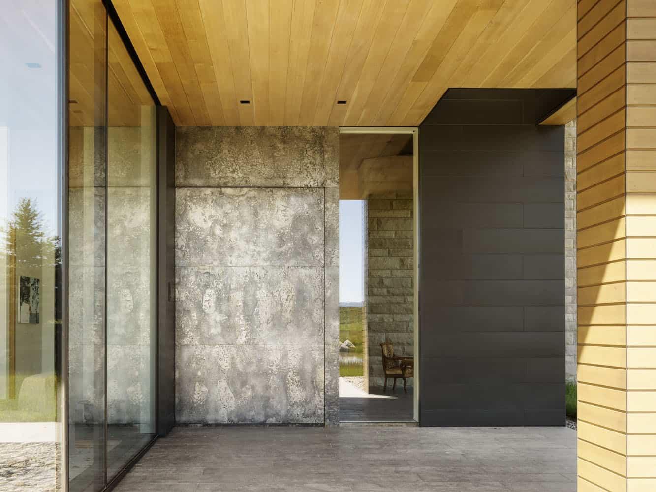 entrée-maison-de-ranch-rustique-moderne