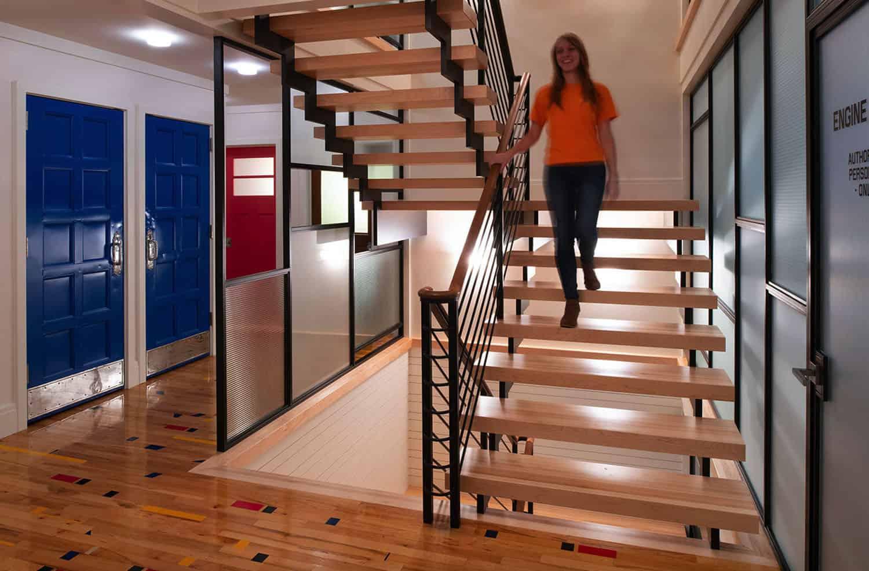 escalier éclectique