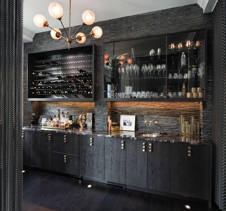 Bar à la maison à l'élégance italienne