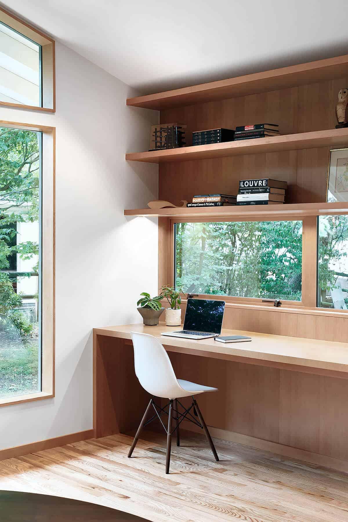 bureau à domicile du milieu du siècle