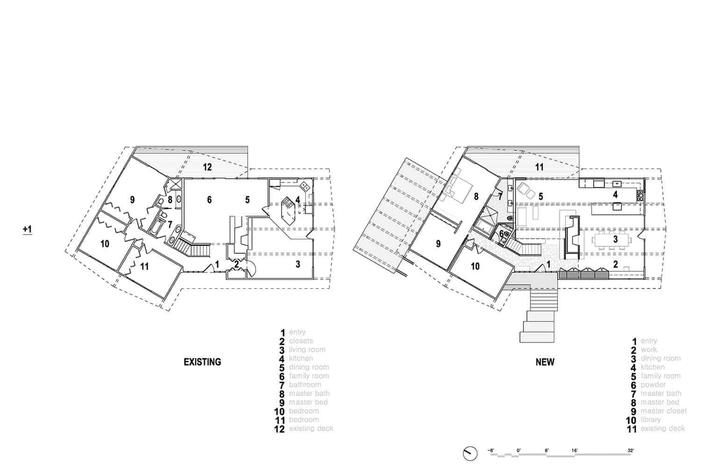 plan-d'étage-maison-moderne-du milieu-du-siècle-avant-après-rénovation