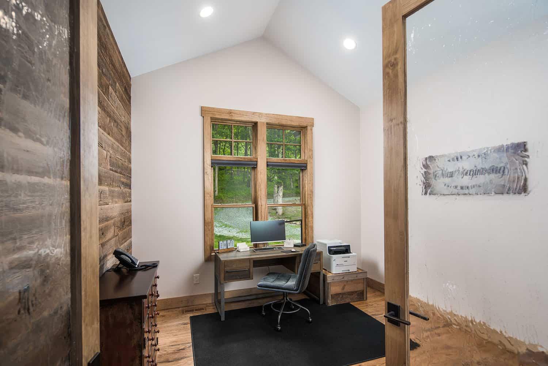 bureau à domicile de style montagnard
