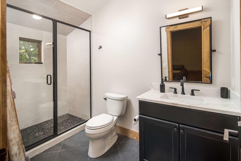 salle de bain de style montagnard