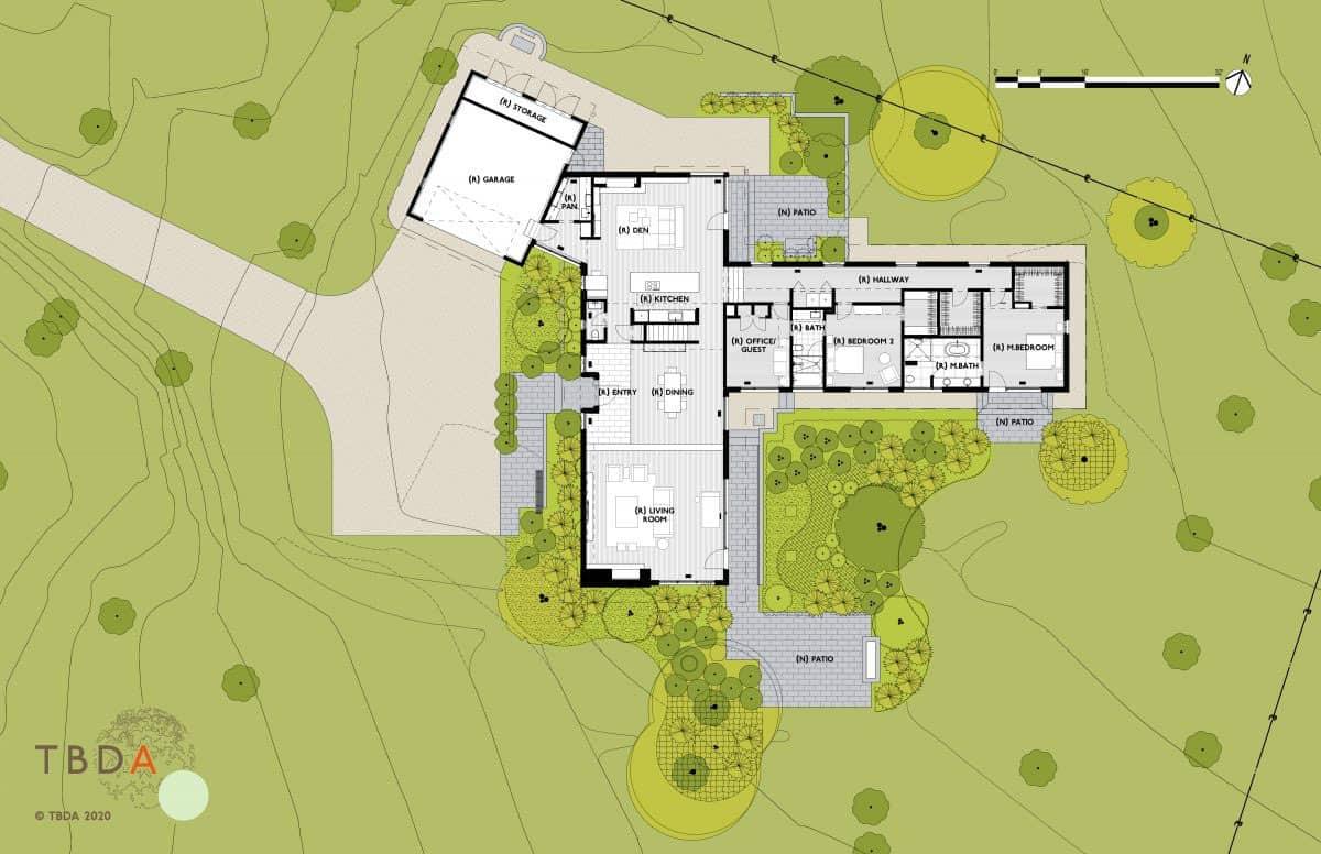 plan-maison-moderne-du milieu du siècle