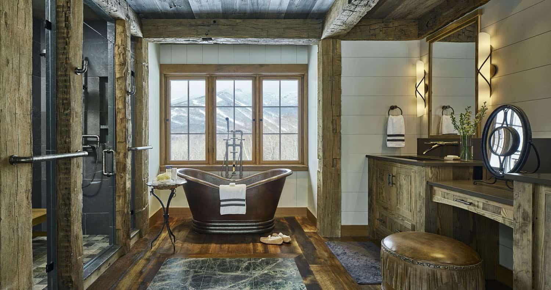 salle de bain principale rustique