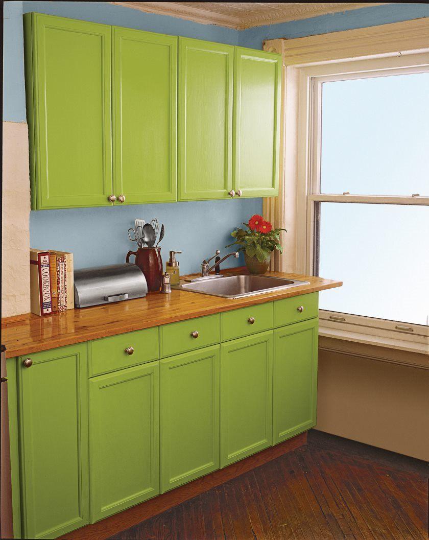 armoires-de-cuisine-vertes