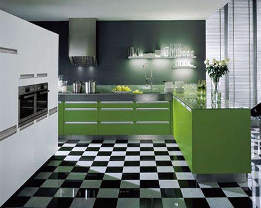 idées-de-décoration-remarquables-cuisine-chaleureuse-avec-dessus-de-granit-noir-génial-pour-meuble-bas-en-bois-en-forme-de-vert-moderne-et-merveilleux-blanc-noir-céramique-sol- dans-la-meilleure-couleur-décoration-ainsi-que-mod