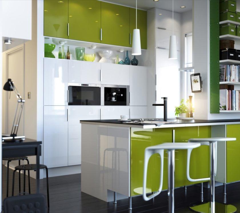 cuisine-peinte-cuisine-frais-vert-lime-ikea-idees-de-cuisine-design-en-utilisant-unique-blanc-tabouret-de-bar-plus-charmant-vert-armoires-idee