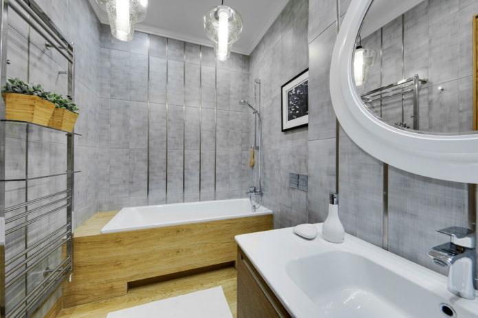 design de salle de bain dans les tons de gris