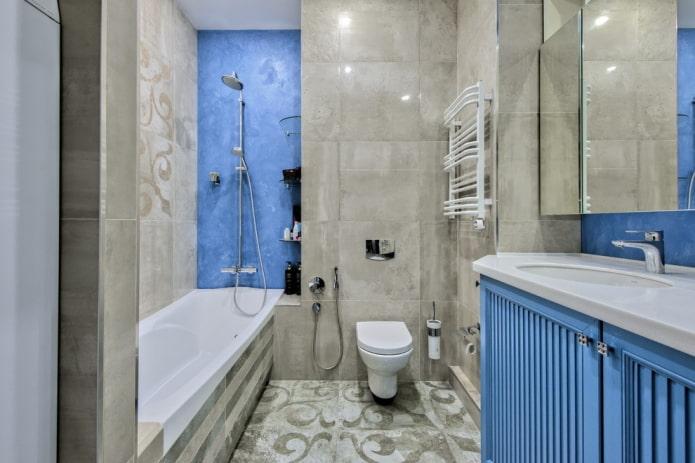 salle de bain bleu-gris