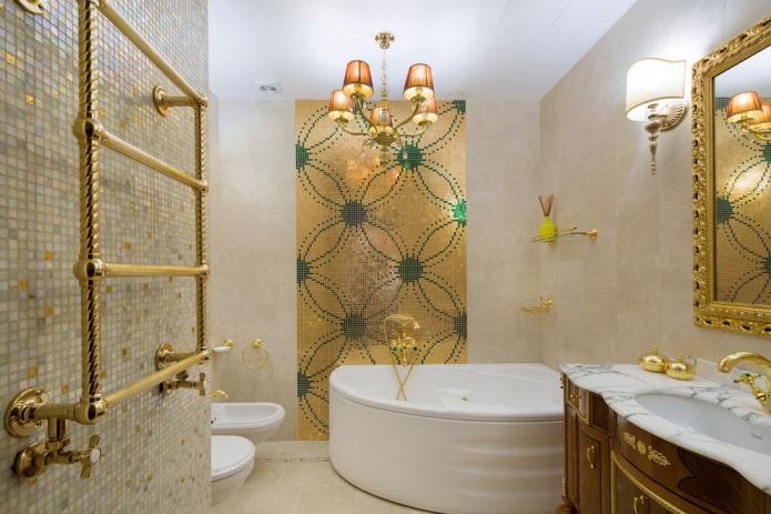 baignoire d'angle en acrylique