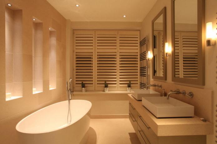 conception d'éclairage à l'intérieur de la salle de bain