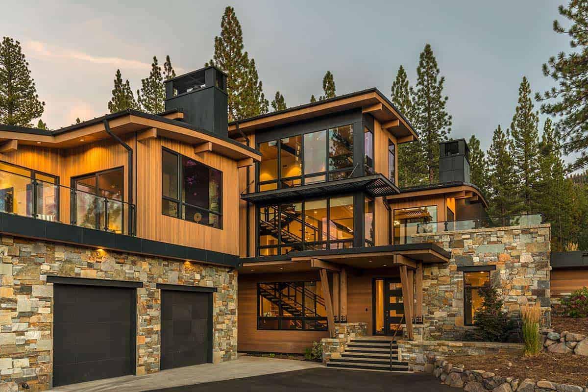 extérieur-maison-moderne-de-montagne