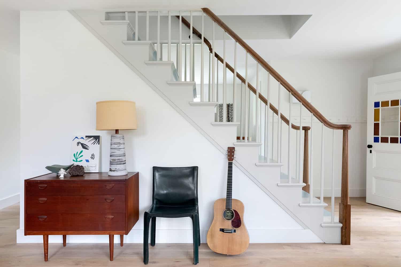 entrée-escalier style ferme