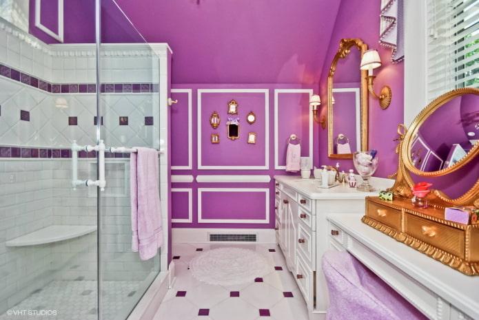 plafond et murs violets