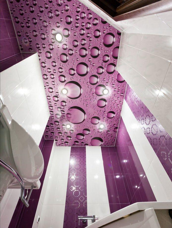 plafond violet tendu