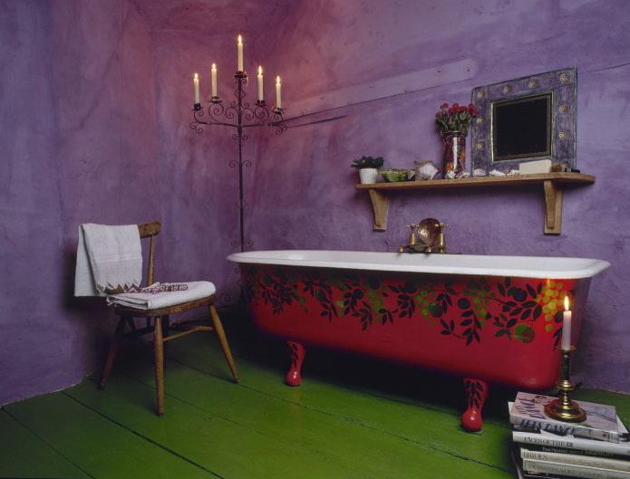 murs en violet