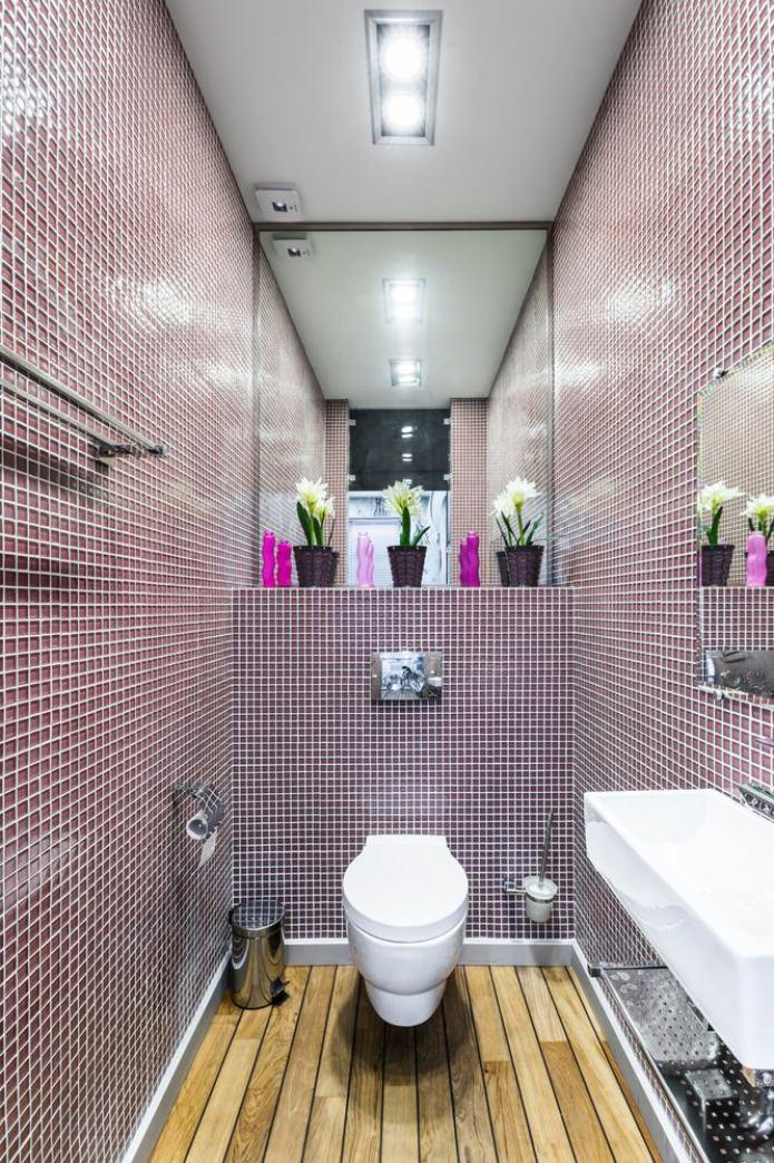 toilette violette