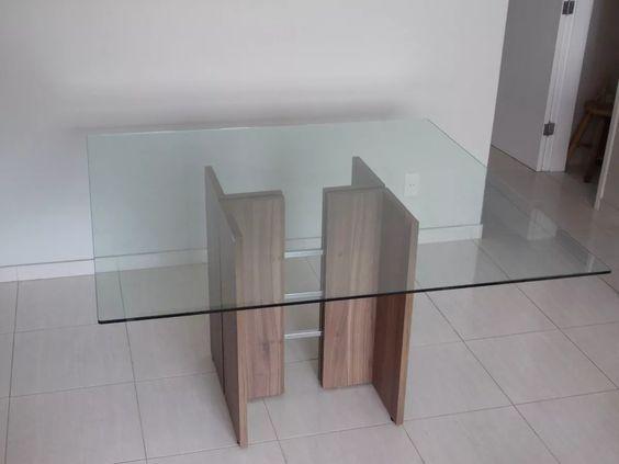 Base de table en verre