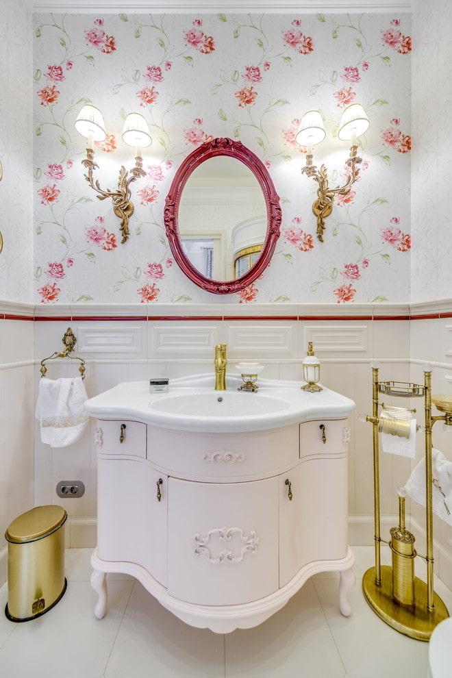 meuble de salle de bain classique