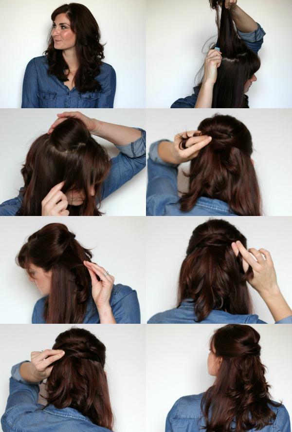 Twisted Half Up 8 coiffures de mariage bricolage pour les cheveux longs pour impressionner