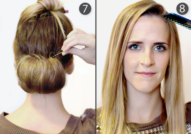 Coiffures de mariage cheveux longs