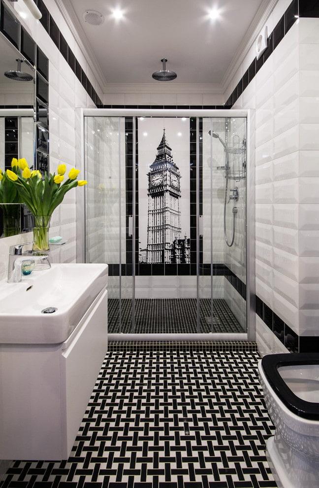 panneaux dans la salle de bain
