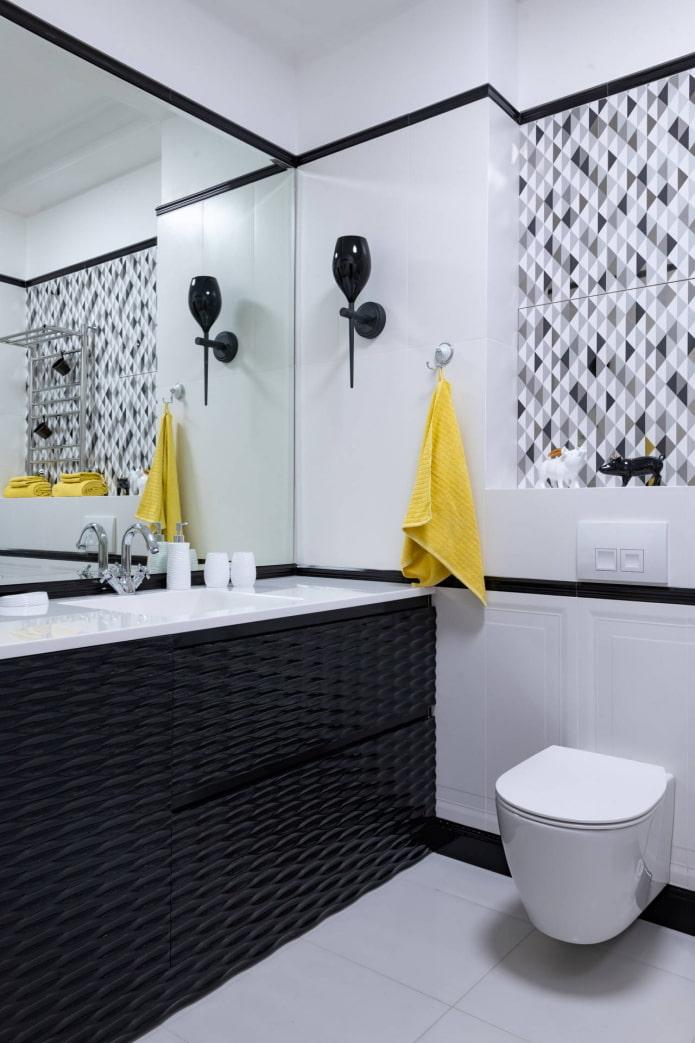 accents lumineux dans la salle de bain