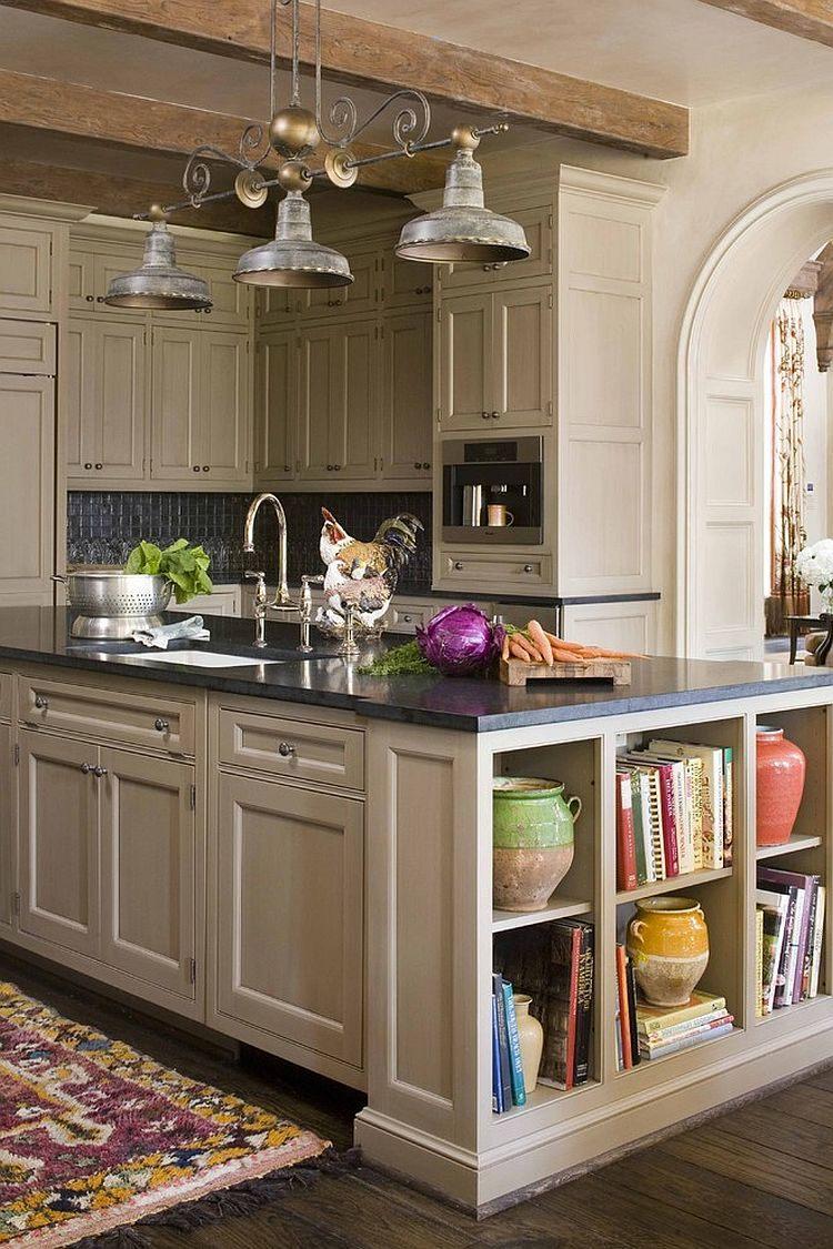 étagères-ouvertes-ajouter-un-fabuleux-présentoir-à-l'îlot-de-cuisine