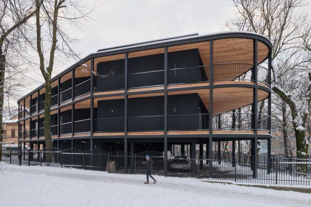 Villa Reden par Maciej Franta à Chorzow, Pologne