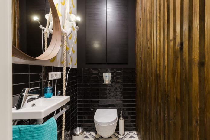 armoire encastrée dans les toilettes
