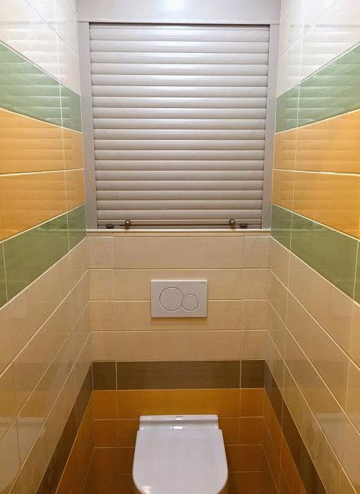 volets roulants dans les toilettes