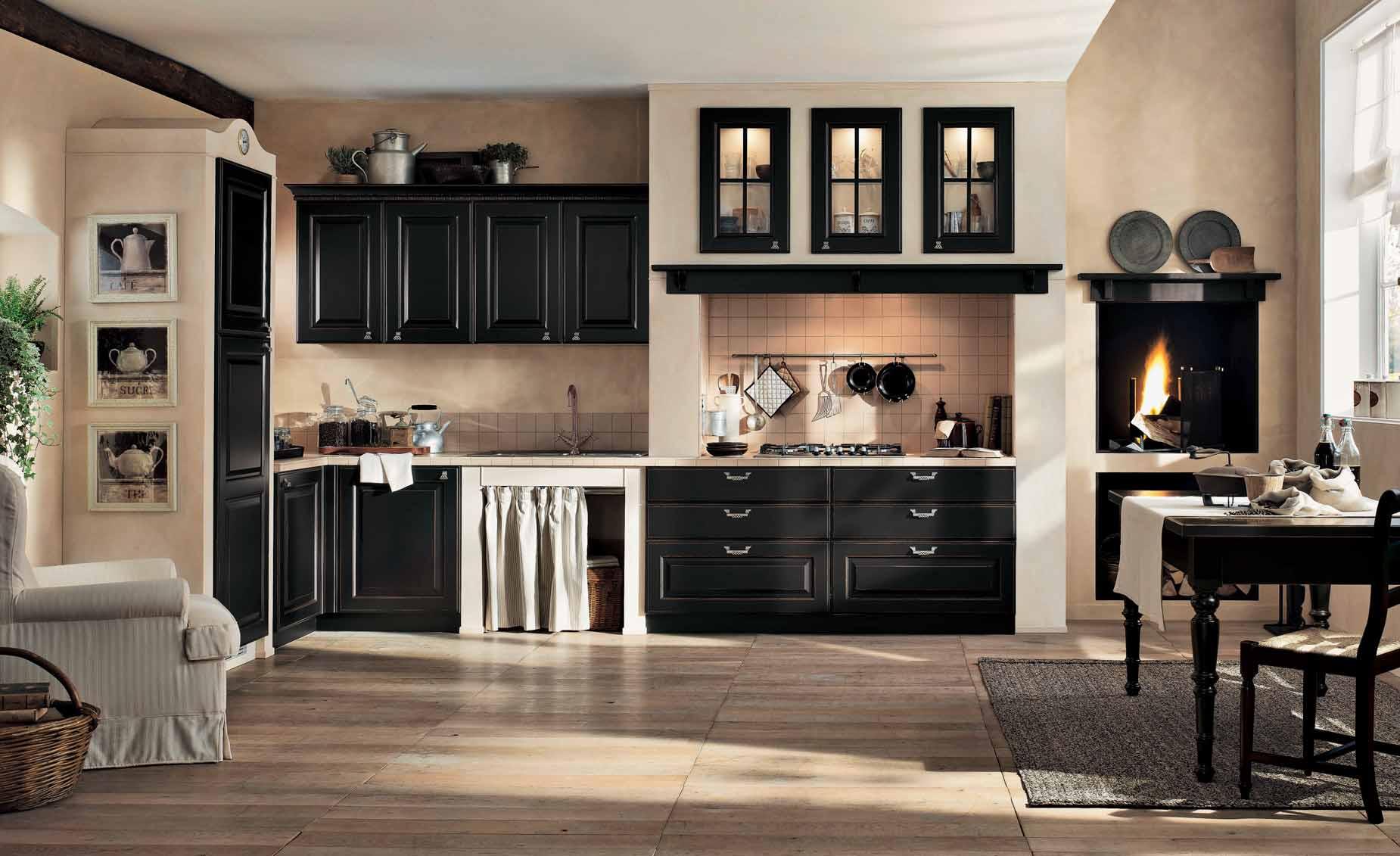 intérieur-cuisine-classique-noir-et-crème-gaia