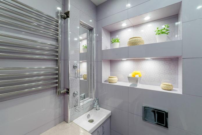 niche dans les toilettes