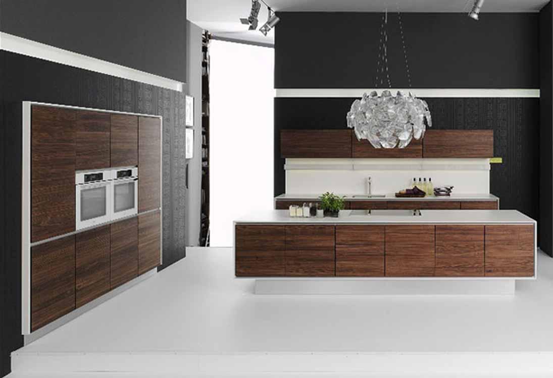cuisines-attrayantes-style-de-cuisine-blanc-avec-armoire-de-cuisine-marron-avec-mur-noir-et-suspension-blanche-super-styles-de-sol-de-cuisine