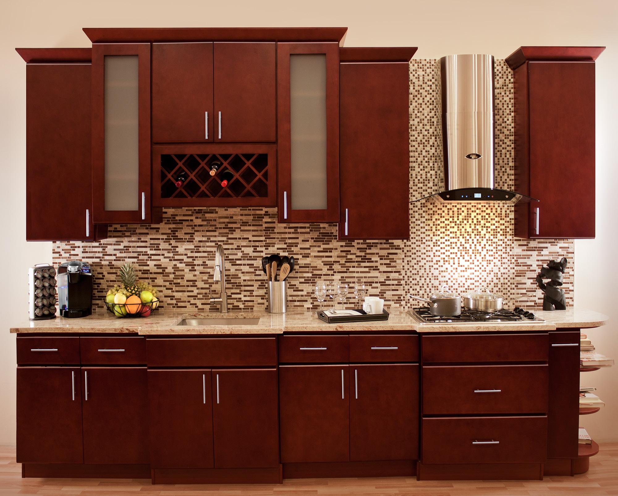 idées-de-cuisine-armoires-marron-13