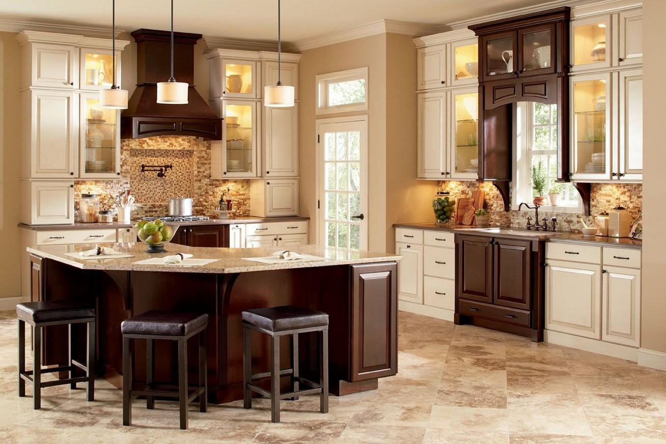 armoires-de-cuisine-bicolores-image-marron-et-blanc