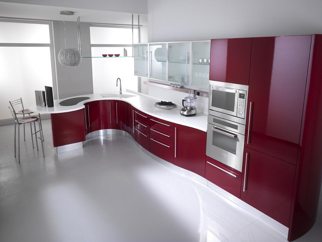 idées de cuisine rouge pour la décoration