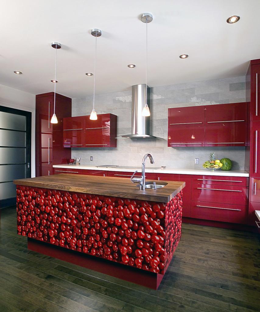 incroyable-cuisine-rouge-interieur-design-contemporain-inspiration-idees-avec-chic-cuisine-comptoir-ont-des-cuisines rouges